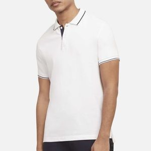 NWT men's Kenneth Cole whit polo top size Lg